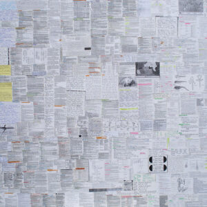 CHEAT SHEETS II_collage, 70×100 cm, Cracow 2011