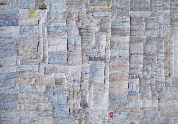 CHEAT SHEETS I_collage, 70×100 cm, Cracow 2002