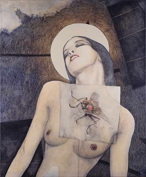 MADONNA mixed media and own technique on canvas 100x120cm 2017