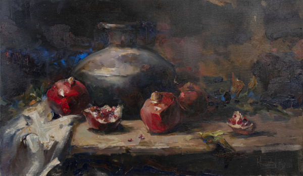 «Red juice» oil canvas